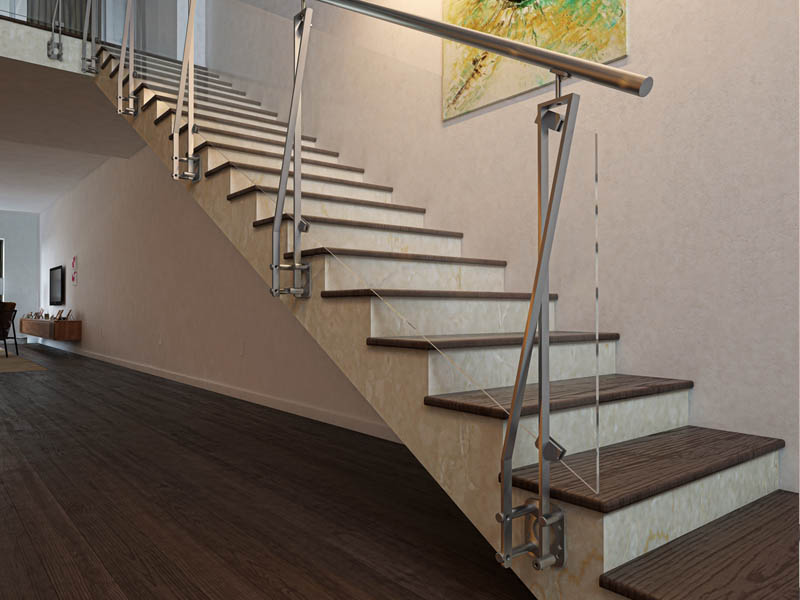 NASTRO MODEL - Stainless Steel Railing with Design Nastro Baluster