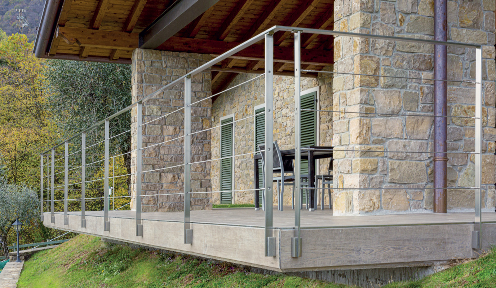 SIENA - Stainless Steel Railing with 40x12 mm Flat Baluster