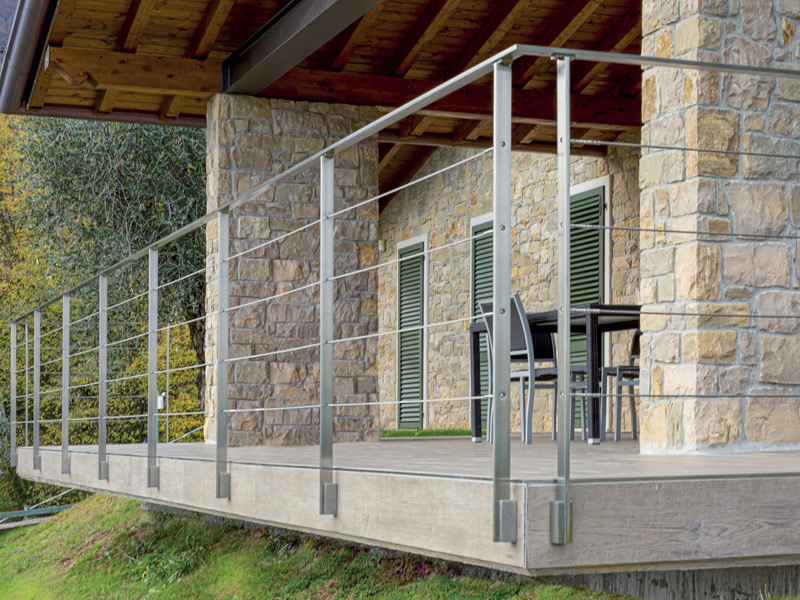 SIENA MODEL - Stainless Steel Railing with 40x12 mm Flat Baluster