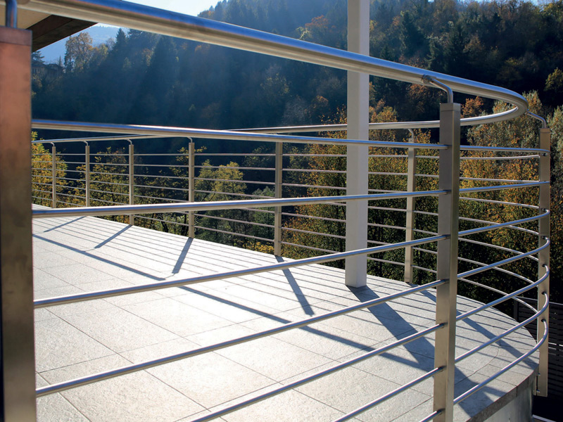 TRENTO MODEL - Stainless Steel Railing with Tube Square Baluster